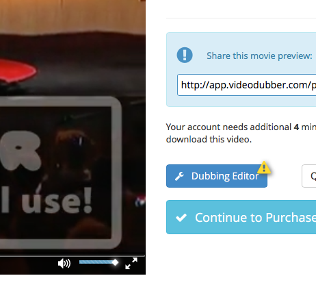 The Dubbing Editor Button